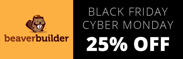Beaver Builder Black Friday Cyber Monday Deal Banner