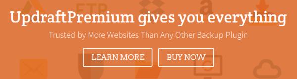 UpdraftPlus Premium Banner